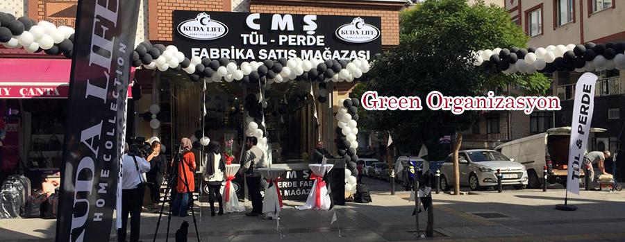 siyah beyaz balon süsleme açılış organizasyon