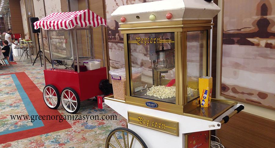 Popcorn Arabası Patlamış Mısırcı Kiralama
