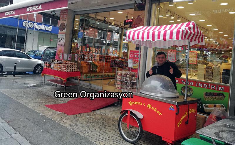 pamuk şekeri arabası açılış organizasyonu