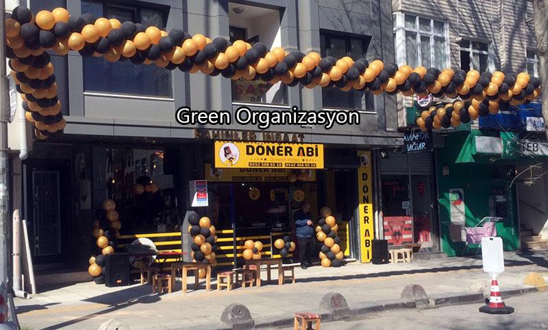 gold siyah zincir balon süslemeleri