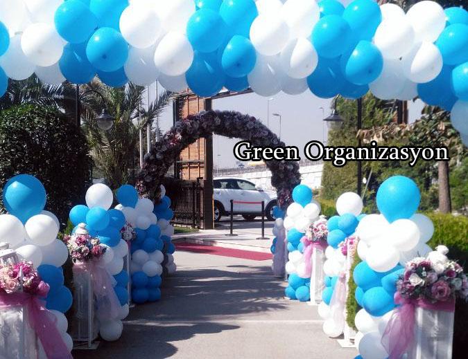 kır düğün mekanı balon süslemesi